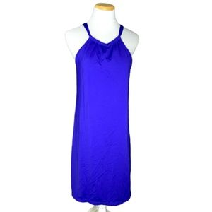 Athleta blue swim suit cover up dress size small